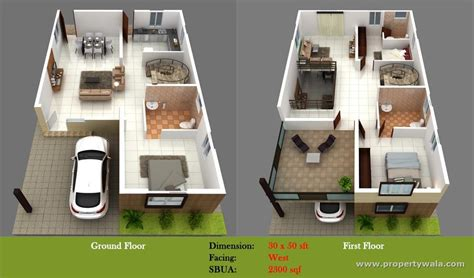 Floor Plans With Guest House by 500 Sq Ft House Plans Indian Style Home Design 2017