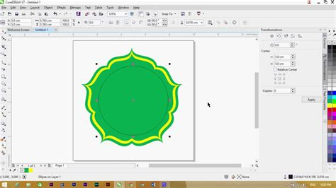 pattern corel draw x7 tutorial membuat logo corel draw x7 part 1 youtube
