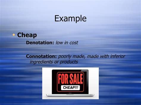 exle of denotation connotation denotation