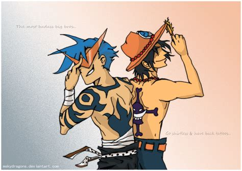 one piece character tattoo spoilers one piece ttgl xover by mskydragons on deviantart