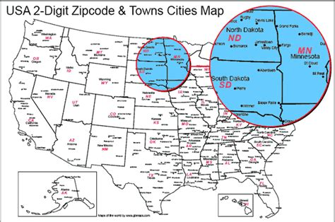 map usa states cities zip codes usa state boundaries map with towns and cities