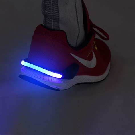 safety lights for runners at night 2x led shoe clips lights night safety warning jogging