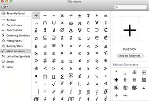 Keyboard Shortcut For Infinity How To Type Common Symbols And Special Characters In Mac