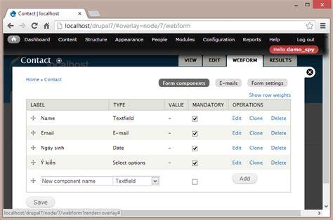 hvi email c 224 i đặt web form cho website drupal tuấn duy blog