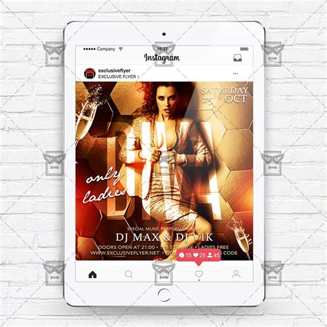 Diva Party Instagram Flyer Template Exclsiveflyer Free And Premium Psd Templates Instagram Ad Template Psd