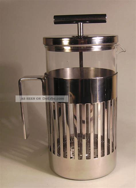 alessi kaffeebereiter kaffeebereiter mit pressfilter f 252 r 8 tassen alessi