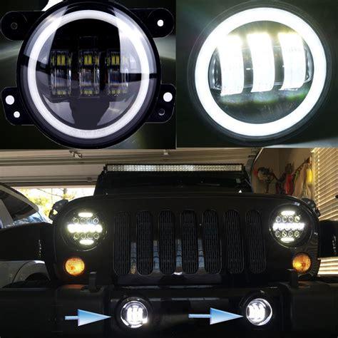 4 round led lights 4 inch round led fog light headlight 30w projector lens