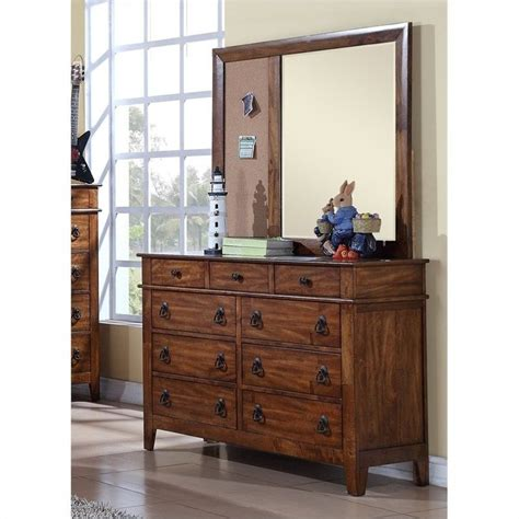 light brown dresser with mirror elements tucson youth dresser and mirror in light brown