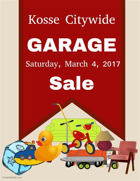 Citywide Garage Sale by Welcome To Kosse A Town With A Big