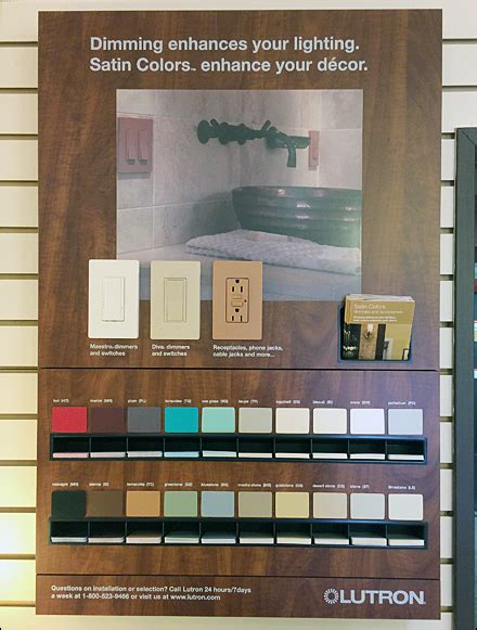 lutron colors in store lutron color sles to go fixtures up