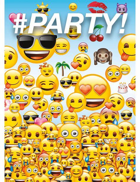 emoji zumba set van 8 uitnodigingen met enveloppen van emoji vegaoo nl