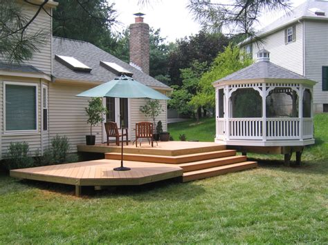 Outside Deck Ideas by Outdoor Decks And Patios Home Interior Design