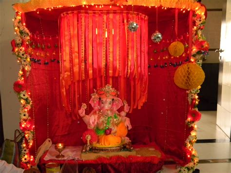 homemade decorations  ganpati festival
