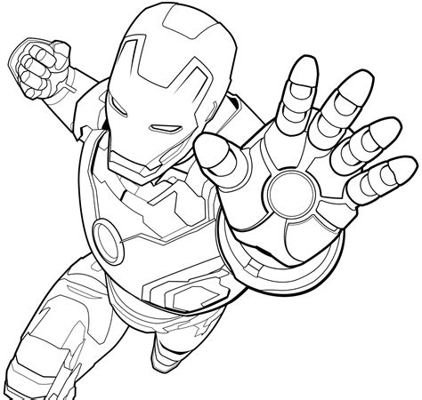 easy iron man coloring page free download iron man coloring pages printable to