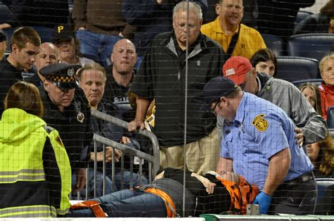 pirates fan tosses foul ball to young girl youtube pirates game halted after woman struck by foul ball