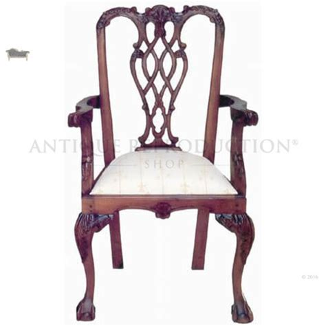 Antique Reproduction Dining Chairs Stuart Chippendale Carver Dining Chair Antique Reproduction Antique Reproduction Shop