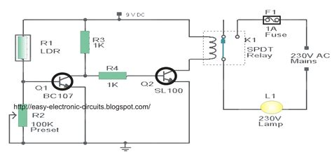 automatic light on off circuit automatic street light circuit