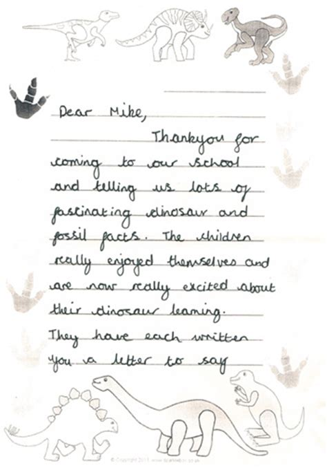 Thank You Letter Ks1 july 17 2013 everything dinosaur
