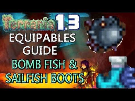 sailfish boots terraria terraria 1 3 equipables guide bomb fish sailfish boots
