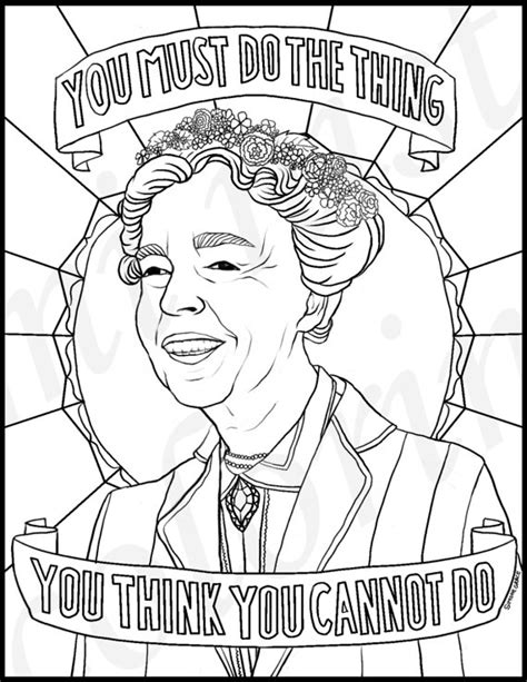 16 fabulous famous women coloring pages for kids women