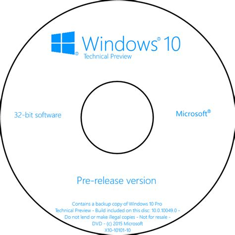 Dvd Windows 10 view topic my windows 10 technical preview cover