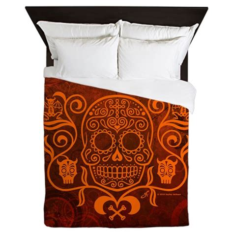 day of the dead bedding day of the dead sugar skull queen duvet by admin cp3133199