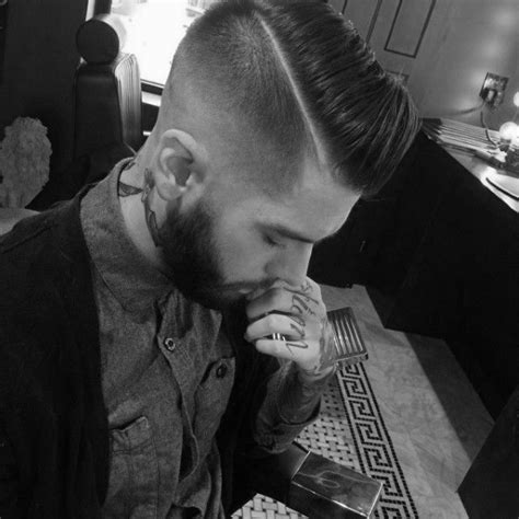 hard part men 40 hard part haircuts for men sharp straight line style