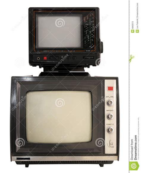 Tv Mini two portable mini tv sets stock image image of screen 6860513