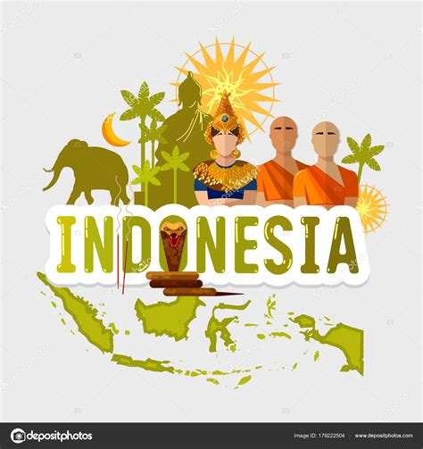 travel  indonesia traditions  culture stock vector