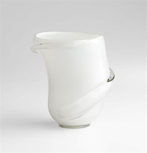 Clear Decorative Vases Donatella White Clear Glass Vase By Cyan Design