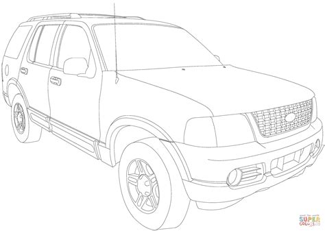 pattern explorer help ford explorer coloring pages