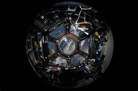 cupola module fisheye photograph of the iss cupola module almost like