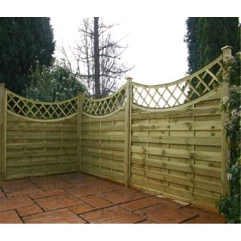 5 Ft Fence Panels With Trellis 5ft Pressure Treated Concave Horizontal Weave Trellis