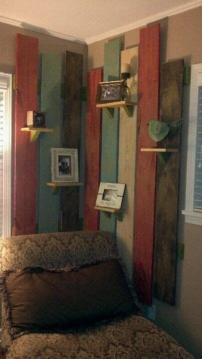 painted  glazed plank wall easy home decor
