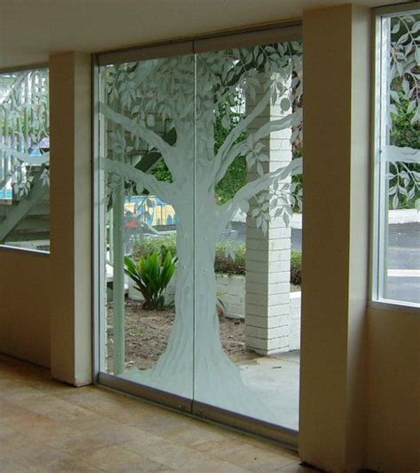 Two Loves Come Together Glass Etching And Tree Designs Diy Frosted Glass Door