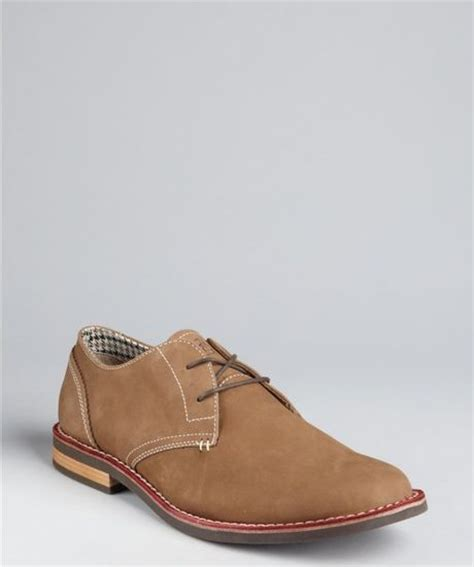 penguin oxford shoes original penguin cub nubuck waylon casual oxfords in brown