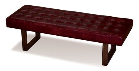 retro bench retro modern merlot red genuine leather bench ottoman