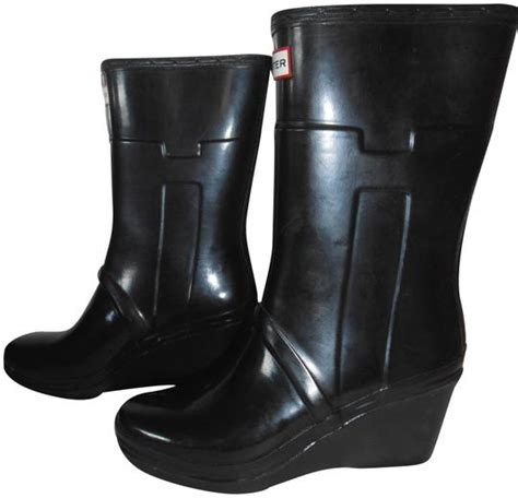 Wedges Boots Glossy glossy black quot kellan quot wedge s boots