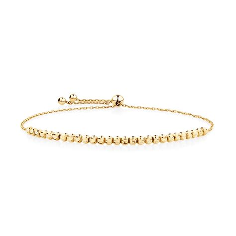 south hill design bracelet adjustable beaded bracelet in 10ct yellow gold