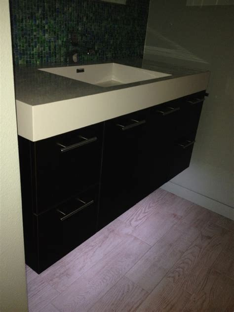 floating vanity with led cabinet lighting