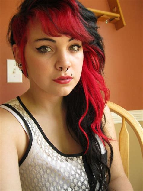 black hair to raspberry hair her hair posts and dyes on pinterest
