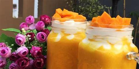 membuat jus mangga muda resep cara membuat king mango thai jus mangga kekinian