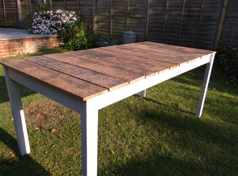 Reclaimed Wood Patio Table by White Outdoor Dining Table Diy Projects