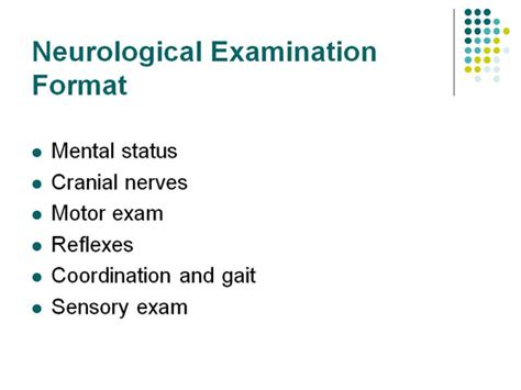 neurological exam template images