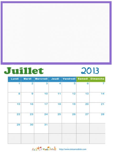 Calendrier Juillet 2013 Juillet 2013 Calendrier 224 Illustrer Sur T 234 Te 224 Modeler