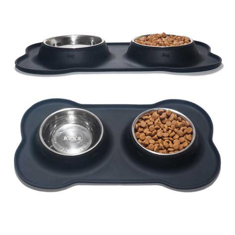 Crate Training set of 2 stainless steel dog bowls with non skid amp no