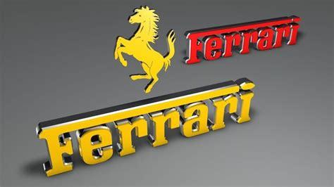 Ferrari Logo Font by Ferrari Logo Extrude Font 3d Model C4d