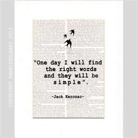 printable literary quotes jack kerouac quote art print wall decor poster