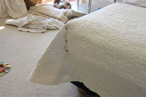 How To Make An Ottoman Slipcover How To Make Pottery Barn Style Slipcovers Using A Quilt In My Own Style