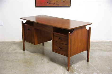 mid century modern walnut desk mid century modern walnut desk vintage supply store